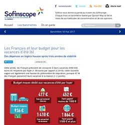 Les Français et leur budget pour les vacances d'été (6)