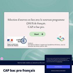 CAP bac pro français by vanessadeglaire on Genially