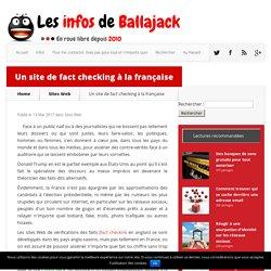 Un site Web en français de vérification des faits