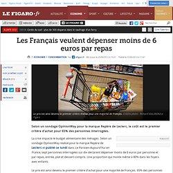 Consommation : Les Français dépenser moins de 6 euros par repas