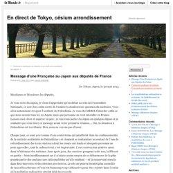 Message d'une Française au Japon aux députés de France