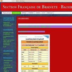 Section Française de Brunete - Bachillerato: GRAMMAIRE
