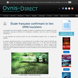 Scoop - Étude française confirmant le lien OVNI/nucléaire