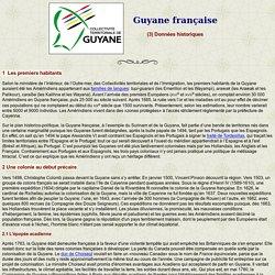 Guyane française: données historiques