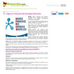L'Agence Française des Energies Nouvelles