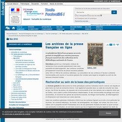 Les archives de la presse française en ligne — Enseigner avec le numérique