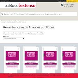 Revue française de finances publiques