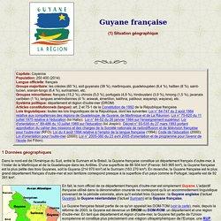 Guyane française: situation géographique
