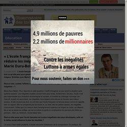 «L'école française ne fait pas assez pour réduire les inégalités sociales». Entretien avec Marie Duru-Bellat