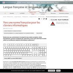 Vers une norme française pour les claviers informatiques - Langue française et langues de France
