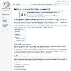 Trésor de la langue française informatisé