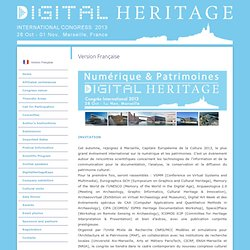 Digital Heritage International Congress 2013