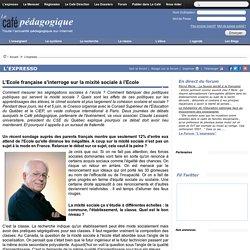 L'Ecole française s'interroge sur la mixité sociale à l'Ecole