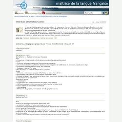maîtrise de la langue française - littérature et tablettes tactiles