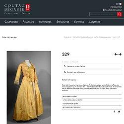 Robe à la française, manteau et pièce d'estomac, époque Louis XVI, en