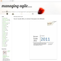 Scrum Guide 2011, la version française non-officielle
