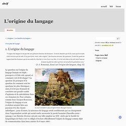 L'origine du langage