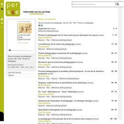 Revue française de pédagogie, volume 120, 1997. Penser la pédagogie.