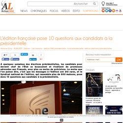 L'édition française pose 10 questions aux candidats à la présidentielle
