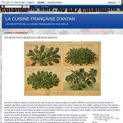 LA CUISINE FRANÇAISE D'ANTAN .: LES RECETTES OUBLIÉES DU CRESSON ALÈNOIS .