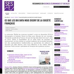 Ce que les big data nous disent de la société française — Sciences économiques et sociales