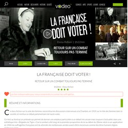 La française doit voter ! en streaming, docu-fiction de Bruno Fuligni, France 3