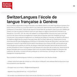 École de langue française à Genève