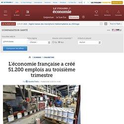 L'économie française a créé 51.200 emplois au troisième trimestre
