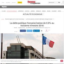 La dette publique française baisse de 0,9% au troisième trimestre 2016