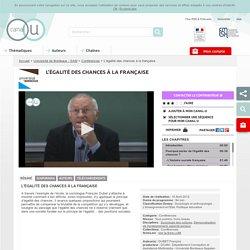 L'égalité des chances à la française - Université de Bordeaux - SAM