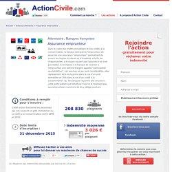 Banques françaises : Assurance emprunteur - ActionCivile