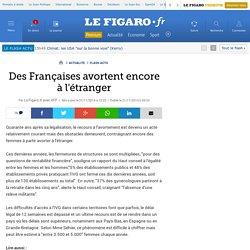 Des Françaises avortent encore à l'étranger