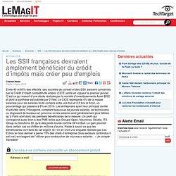 Les SSII françaises devraient amplement bénéficier du crédit d'impôts mais créer peu d'emplois