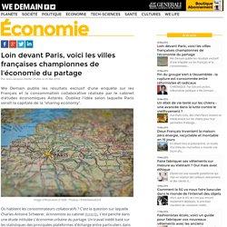 Loin devant Paris, voici les villes françaises championnes de l'économie du partage