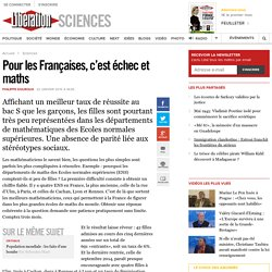 Pour les Françaises, c'est échec et maths