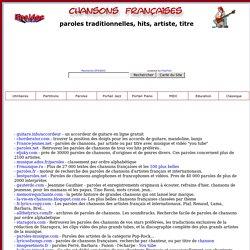 musique, les paroles des chansons françaises et francophones