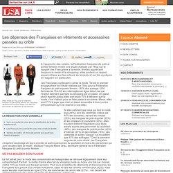Les dépenses des Françaises en vêtements et... - Textile, habillement