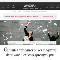 Ces villes françaises où les inégalités de salaire n'existent (presque) pas