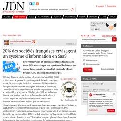 20% des sociétés françaises envisagent un système d'information en SaaS