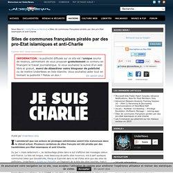 Sites de communes françaises piratés par des pro-Etat islamiques et anti-Charlie
