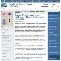 Evasion fiscale : analyse des chiffres publiés par les banques françaises