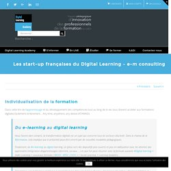 Les start-up françaises du Digital Learning - e-m consulting