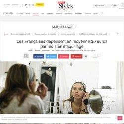 Les Françaises dépensent en moyenne 30 euros par mois en maquillage - L'Express Styles