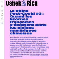 Usbek & Rica - La Chine Post-Covid #3 : Quand les licornes françaises s'ébattent dans les plaines numériques chinoises