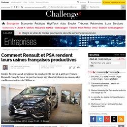 Comment Renault et PSA rendent leurs usines françaises productives