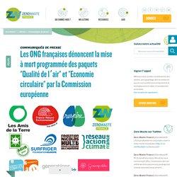 """Les ONG françaises dénoncent la mise à mort programmée des paquets """"Qualité de l'air"""" et """"Economie circulaire"""" par la Commission européenne"""