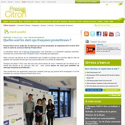 Quelles sont les start-ups françaises prometteuses ?