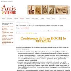 La France en 1914-1918: une victoire au-dessus de nos moyens