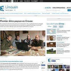 FRANCE 3 LIMOUSIN 18/09/13 Premier drive paysan en Creuse