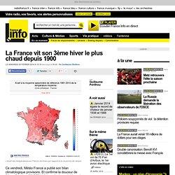 La France vit son 3ème hiver le plus chaud depuis 1900